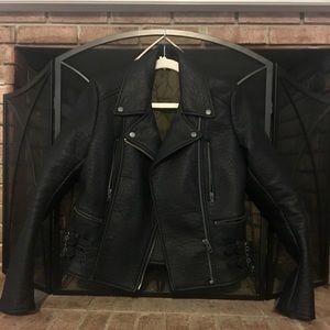 Free People Black Motorcycle Leather Jacket